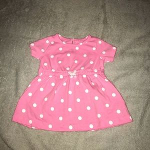 Carter's - girl size 6 month - pink dress